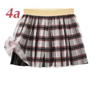 プチバトー(PETIT BATEAU)のしろくまくまちゃん様ご専用プチバトー  2019AW チェックチュールスカート(スカート)