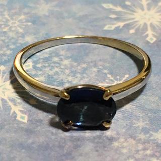 サファイアリング  ホワイトゴールド K18 13号 簡易鑑別付き(リング(指輪))