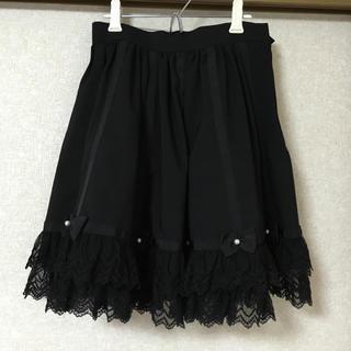 アンジェリックプリティー(Angelic Pretty)の最終値下げ アンプリ黒スカート(ひざ丈スカート)
