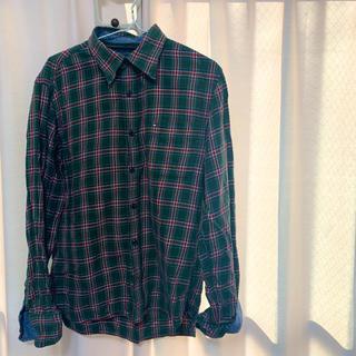 トミーヒルフィガー(TOMMY HILFIGER)のチェック シャツ 緑(シャツ/ブラウス(長袖/七分))