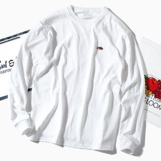 ロンハーマン(Ron Herman)のfruit of the loom ロンT 白M 長袖Tシャツ(Tシャツ/カットソー(七分/長袖))