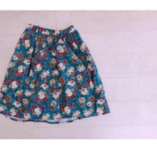 サンタモニカ(Santa Monica)の古着屋 花柄スカート(ひざ丈スカート)