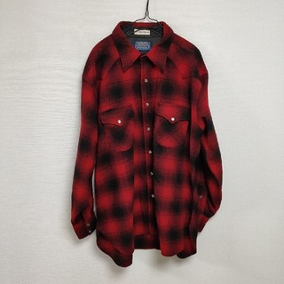 ペンドルトン(PENDLETON)のPENDLETON ウール ウエスタンチェックシャツ XL(シャツ)