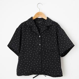 Kastane - kastane  半袖ドット開衿シャツ