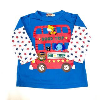 mikihouse - 【ミキハウス】バス ロンT Tシャツ カットソー 長袖 80