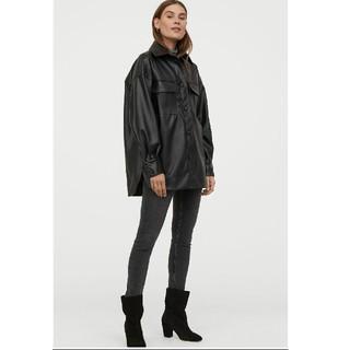 エイチアンドエム(H&M)の新品タグ付き H&M フェイクレザーシャツジャケット ZARA ザラ M L(その他)