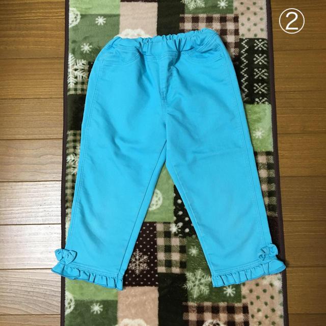 GU(ジーユー)の<407>GU半端丈パンツセット120サイズ キッズ/ベビー/マタニティのキッズ服女の子用(90cm~)(パンツ/スパッツ)の商品写真