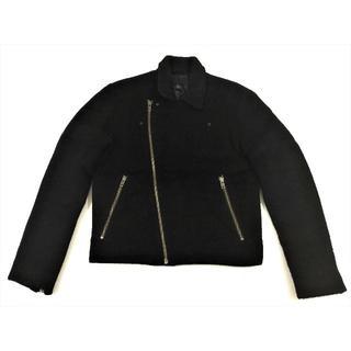エイチアンドエム(H&M)のH&Mエイチアンドエムモヘア起毛ウールライダースジャケットブラック(ライダースジャケット)