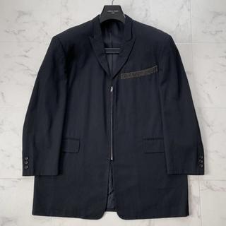 コムデギャルソン(COMME des GARCONS)のCOMME des GARCONS HOMME ウールジップジャケット M 黒(テーラードジャケット)