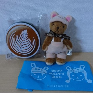 タリーズコーヒー(TULLY'S COFFEE)の新品☆タリーズ 干支ミニテディ&カフェラテキャンディ(ぬいぐるみ/人形)