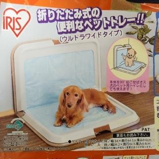 アイリスオーヤマ(アイリスオーヤマ)の犬用の折りたたみトイレトレー(犬)