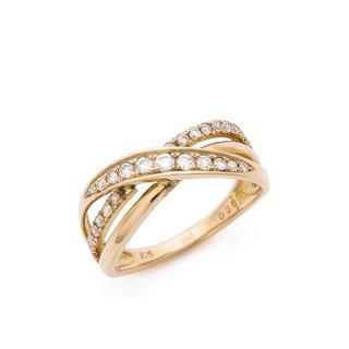 新品 未使用 K18 ピンクゴールド ダイヤモンド リング 指輪(リング(指輪))