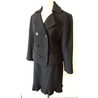 オリゾンティー(ORIZZONTI)の★美品 オリゾンティ ブラックスカートスーツ(スーツ)