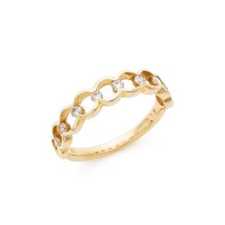 新品 未使用 K10 イエローゴールド ダイヤモンド ピンキーリング 指輪(リング(指輪))