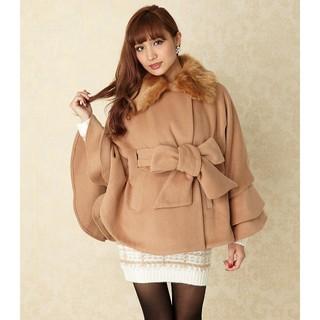 リエンダ(rienda)の新品rienda♡リエンダポンチョ型コート(毛皮/ファーコート)