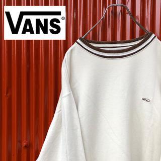 ヴァンズ(VANS)の☆アースカラー☆バンズ☆ワンポイント刺繍ロゴ☆ボーダーリブ☆プルオーバー(スウェット)