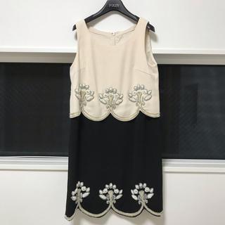 GRACE CONTINENTAL - 【一度使用美品】 グレースコンチネンタル ビジューワンピース ドレス