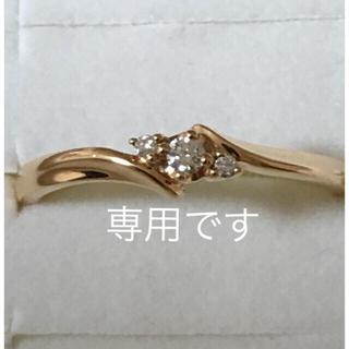 ヨンドシー(4℃)の4°C ピンクゴールドダイヤモンドリング 10号(リング(指輪))