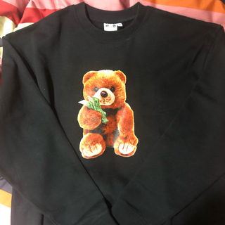 エックスガール(X-girl)のxgirly X-GIRL YURINO  TEDDY BEAR TOP(トレーナー/スウェット)