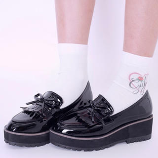 Bubbles - bubbles 靴 厚底 エナメルローファー