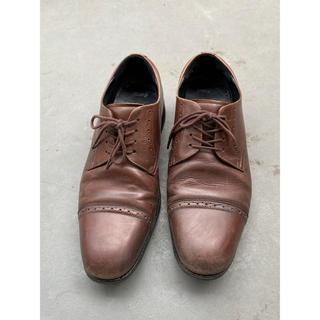アシックス(asics)のアシックス ランウォーク 革靴 濃茶 ダークブラウン 24.5cm asics (ドレス/ビジネス)