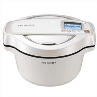 シャープ(SHARP)の新品シャープ ヘルシオ ホットクック 1.6L 電気無水鍋 KN-HW16D-W(調理機器)