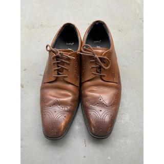 アシックス(asics)のasics  アシックス メンズ 24.5cm 革靴 茶色 ブラウン(ドレス/ビジネス)