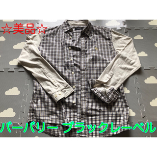 BURBERRY BLACK LABEL - 【値下げ】バーバリー チェックシャツ 美品