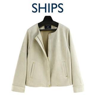 新品-F-未使用 SHIPS フェークスェードブルゾン 8034000089