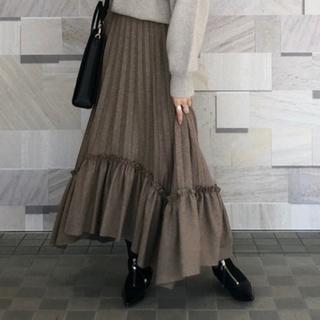ステュディオス(STUDIOUS)のCLANE クラネ フリルプリーツボリュームスカート 新品タグ付き(ロングスカート)