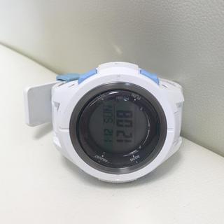 アクアラング(Aqua Lung)のダイビングコンピュータ アクアラング KALM  白、水色 ソーラー充電(マリン/スイミング)
