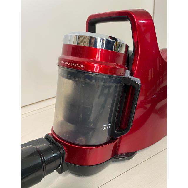 東芝(トウシバ)の東芝 サイクロン掃除機 トルネオミニ グランレッド VC-C4 スマホ/家電/カメラの生活家電(掃除機)の商品写真