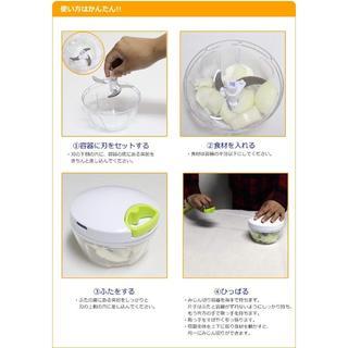 K&A みじん切り器 ふたも洗える ぶんぶんチョッパー ホワイト BBC-01(テーブル用品)