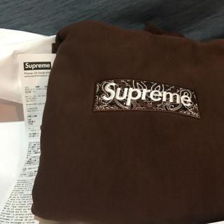 シュプリーム(Supreme)のsupreme box logo hooded ブラウン Sサイズ(スウェット)