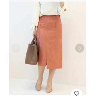 ノーブル(Noble)の【Noble】ウールカルゼフロントスライドタイトスカート(ひざ丈スカート)