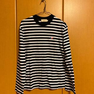 メゾンキツネ(MAISON KITSUNE')のメゾンキツネボーダーTシャツ(シャツ/ブラウス(長袖/七分))