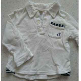 キムラタン(キムラタン)の白ポロシャツ 80cm(シャツ/カットソー)