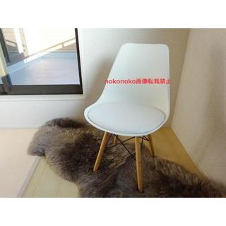 新品 北欧風 木製椅子 ホワイト 1脚 アクセントチェア カウンターチェア(ダイニングチェア)