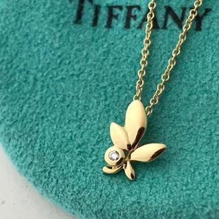 Tiffany & Co. - Tiffany  K18YGオリーブリーフネックレス