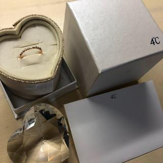 ヨンドシー(4℃)の4°C ピンクゴールド ダイヤリング #8(リング(指輪))