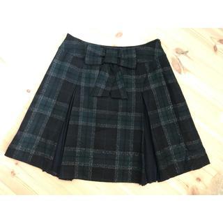 チェック スカート サイズ40(ひざ丈スカート)