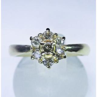 最終価格※天然ダイヤモンド花柄デザインリング(指輪)(リング(指輪))