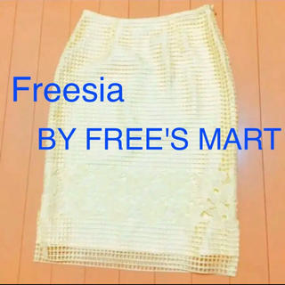 フリーズマート(FREE'S MART)のFreesia BY FREE'S MARTイエロースカート(ひざ丈スカート)