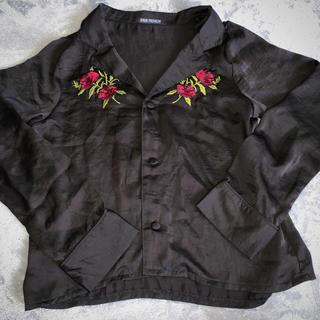 ウィゴー(WEGO)の刺繍レーヨンシャツ(シャツ/ブラウス(長袖/七分))