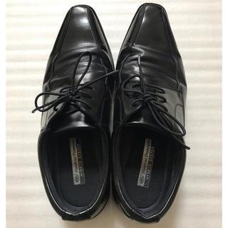 ホーキンス(HAWKINS)の美品 超軽量 紳士靴 ブラック 黒 ホーキンス プレミアム ハイブリッドシステム(ドレス/ビジネス)