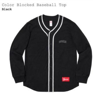 シュプリーム(Supreme)の専用 supreme Color Blocked Baseball Top 黒 (カーディガン)