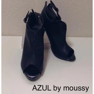 アズールバイマウジー(AZUL by moussy)のAZUL アズール ショートブーツ BLACKブーティ(ハイヒール/パンプス)