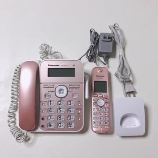 パナソニック(Panasonic)のPanasonic パナソニック 電話機 VE-GD31DL ピンク(その他)