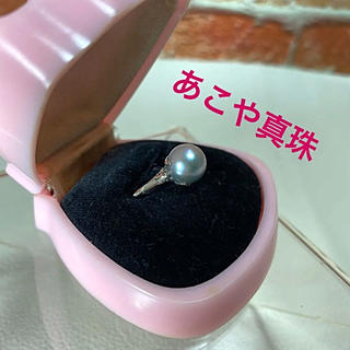 あこや真珠 パールリング シルバーグレー 真珠の指輪(リング(指輪))