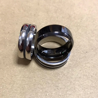 ステンレス指輪セット (新品未使用)(リング(指輪))